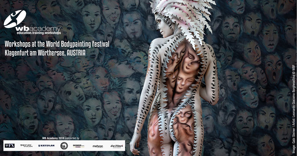 world bodypainting Festival 2018, istruttore