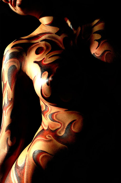 Artwork di body painting del 2011.